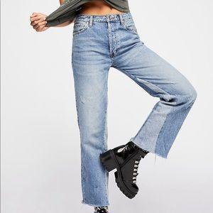 Free People Vintage Crop Straight-Leg Jean